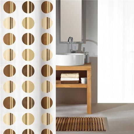 Kleine Wolke - Point Polyester Shower Curtain - W1800 x H2000 - Toffee