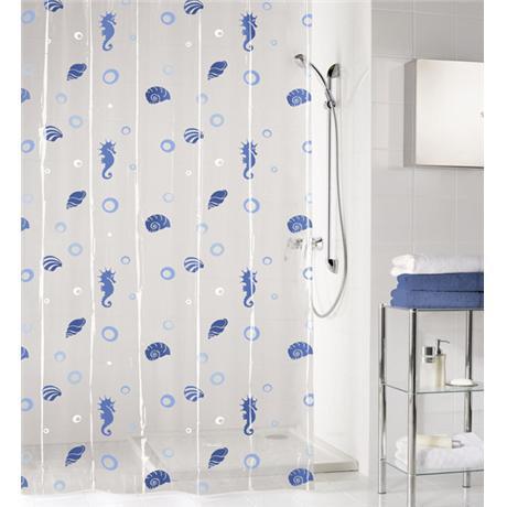 Kleine Wolke - Sandy Vinyl Shower Curtain - W1800 x H2000 - Blue - 5132-700-305