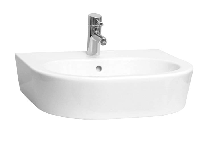Vitra - Matrix 60cm Curved Countertop Basin - 1 Tap Hole Large Image