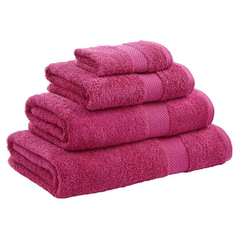 Catherine Lansfield - Egyptian Cotton Towel - Raspberry - Various Size Options Large Image