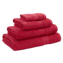 Catherine Lansfield - Egyptian Cotton Towel - Red - Various Size Options Medium Image