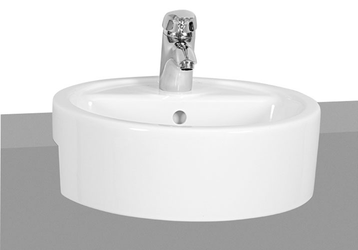 Vitra - Matrix 45cm Semi-Recessed Basin - 1 Tap Hole profile large image view 1
