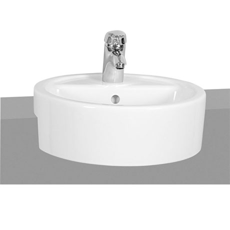 Vitra - Matrix 45cm Semi-Recessed Basin - 1 Tap Hole