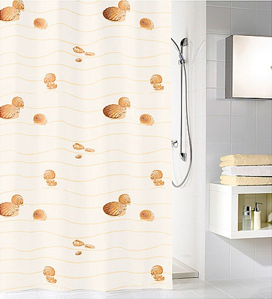 Kleine Wolke - Miami Polyester Shower Curtain - W1800 x H2000 - Beige Large Image