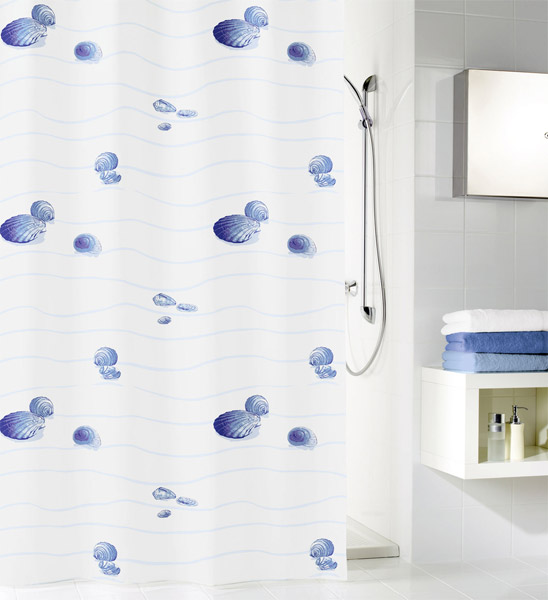 Kleine Wolke - Miami Polyester Shower Curtain - W1800 x H2000 - Blue profile large image view 1