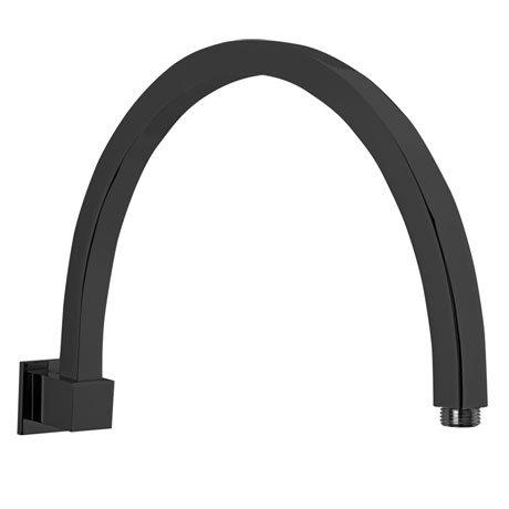 Tre Mercati Black 385mm Curved Turn Me On Shower Arm - 51750