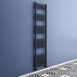 Toreno Black W500 x H1800mm Heated Towel Rail