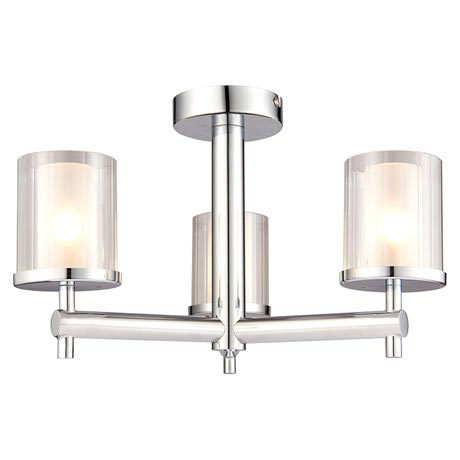 Endon Britton Semi-Flush Bathroom Ceiling Light Fitting