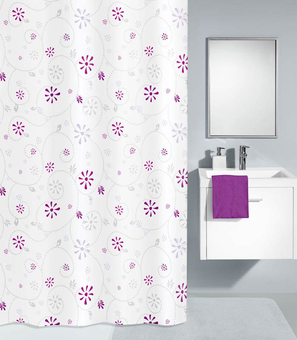 Kleine Wolke - Bijou Polyester Shower Curtain - W1800 x H2000 - Berry profile large image view 1