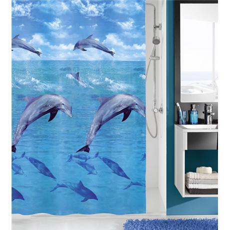 Kleine Wolke - Dolphin PEVA Shower Curtain - W1800 x H2000 - 5201-148-305