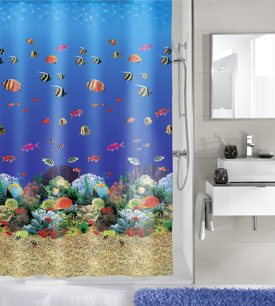 Kleine Wolke - Maldives PEVA Shower Curtain - W1800 x H2000 - 5202-148-305 profile large image view 1