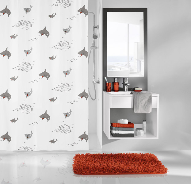 Kleine Wolke - Sharky PEVA Shower Curtain - W1800 x H2000 - 5206-185-305 Large Image