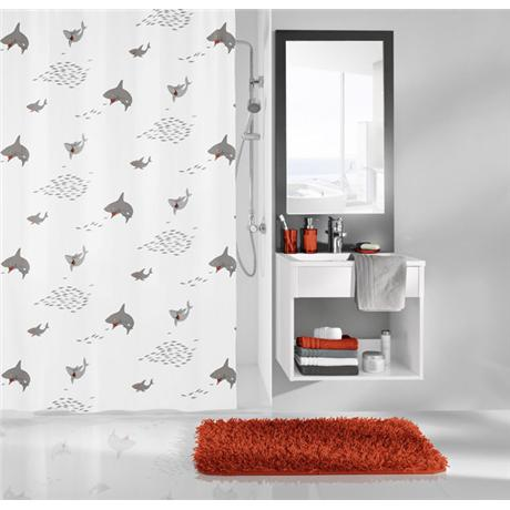 Kleine Wolke - Sharky PEVA Shower Curtain - W1800 x H2000 - 5206-185-305