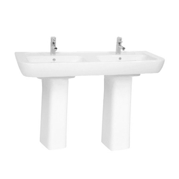 Vitra - Retro Double Basin - Full or Half Pedestal Options profile large image view 2