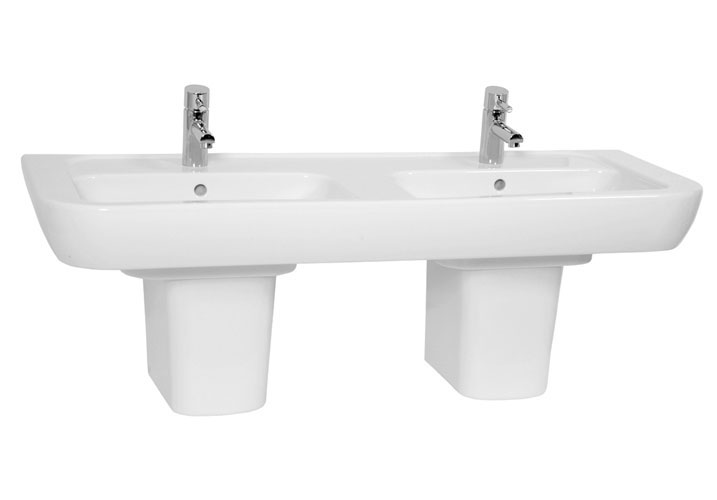 Vitra - Retro Double Basin - Full or Half Pedestal Options profile large image view 1