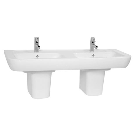 Vitra - Retro Double Basin - Full or Half Pedestal Options