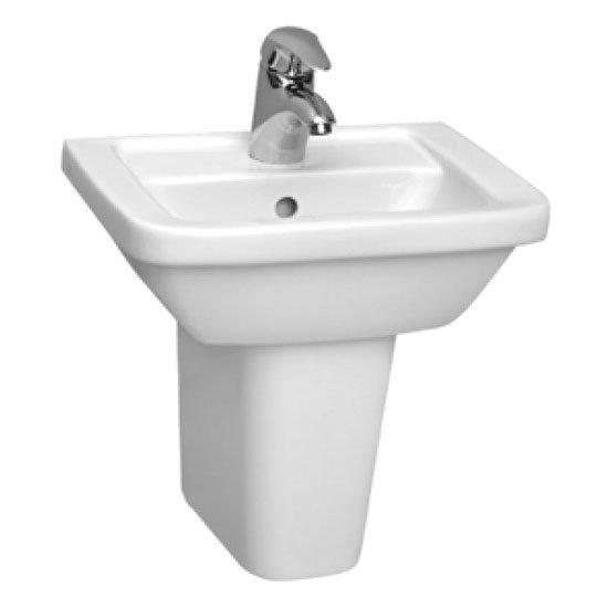 Vitra - Form 300 45cm Cloakroom Basin and Pedestal Large Image