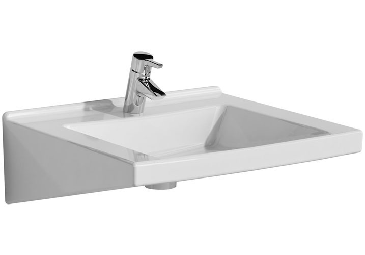 Vitra - S50 Special Needs Accessible Washbasin - 1 Tap Hole - 2 Size Options Large Image