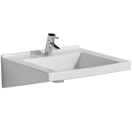 Vitra - S50 Special Needs Accessible Washbasin - 1 Tap Hole - 2 Size Options