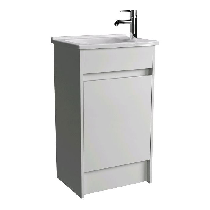 Vitra - S50 50cm Floor Standing Vanity Unit and Basin - 2 Colour Options Large Image