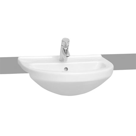 Vitra - S50 Round Semi-Recessed Basin - 1 Tap Hole
