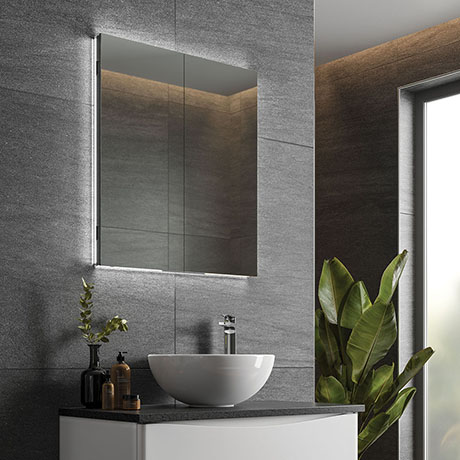 Hib Atrium 60 Semi Recessed Led, Recessed Mirror Cabinet For Stud Walls