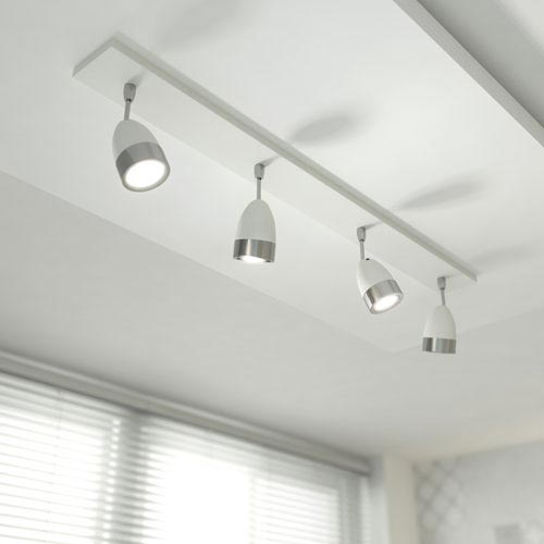 HIB Cirro 4 Lamp LED Spotlight - Cool White - 5310 profile large image view 2