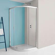Simpsons Supreme 900 x 900mm Quadrant Single Door Shower Enclosure Medium Image