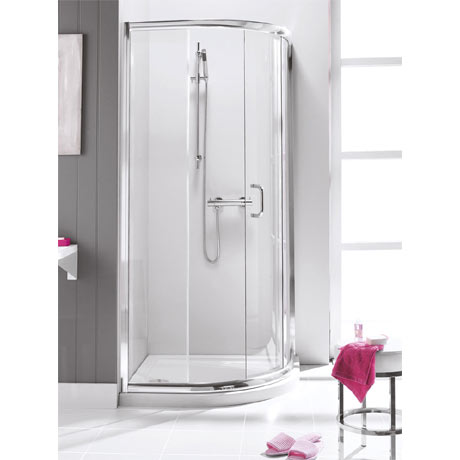 Simpsons - Supreme Quadrant Single Door Shower Enclosure - 900 x 900mm