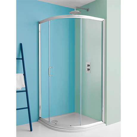 Simpsons Supreme Offset Quadrant Single Door Shower Enclosure - 4 Size Options