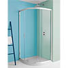 Simpsons Supreme Offset Quadrant Single Door Shower Enclosure - 4 Size Options profile small image view 1