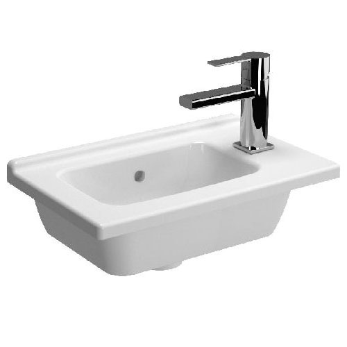 Vitra - S50 Vanity Cloakroom Basin - 1 Tap Hole - 2 Size Options Large Image