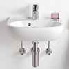 Villeroy and Boch O.novo 500 x 400mm 1TH Handwash Basin - 53605001 profile small image view 1