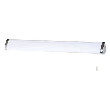 Searchlight Poplar Chrome Triangular Wall Light with T5 Flourescent Tube - 5372CC