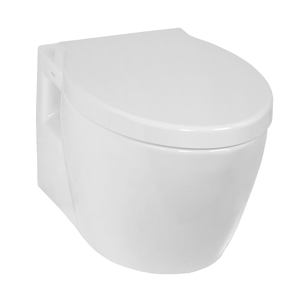 Vitra - Sunrise Wall Hung Wall Toilet Pan - 2 Seat Options profile large image view 1