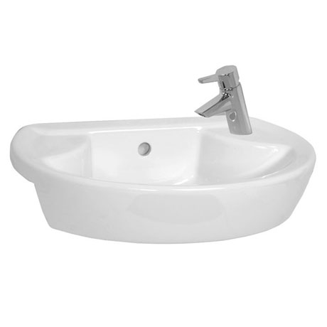 Vitra - Sunrise Short Projection Semi-Recessed Basin - Left or Right Hand Tap Hole Option