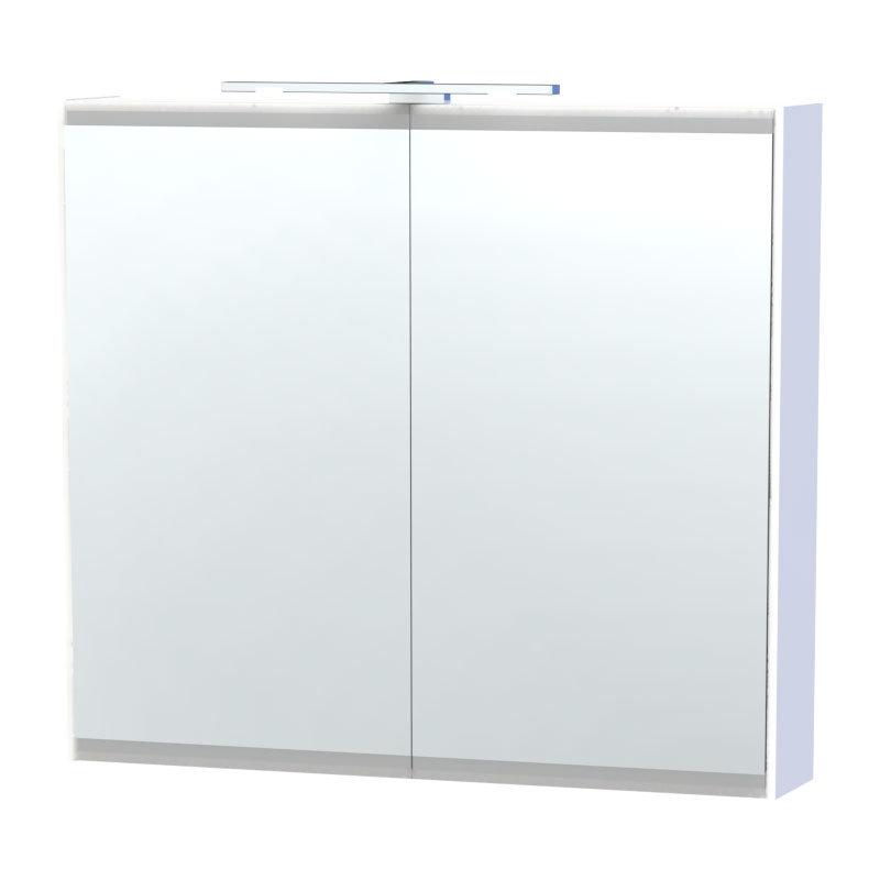Miller - London 80 Mirror Cabinet - White - 54-2 Large Image