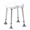 Drive DeVilbiss Delphi Shower Stool with Single Recess - 540200000 profile small image view 1