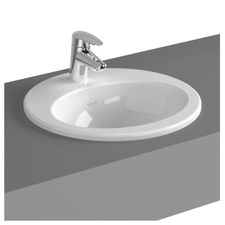 Vitra - S20 Countertop Round Basin - 1 Tap Hole - 3 Size Options