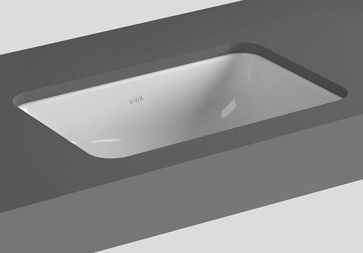 Vitra - S20 Under Counter Square Basin - 3 Size Options Large Image