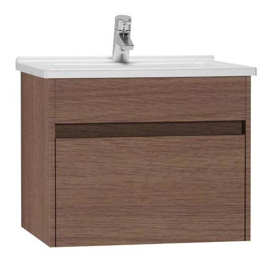 Vitra - Vanity Unit with Drawer and Basin - Oak profile large image view 1