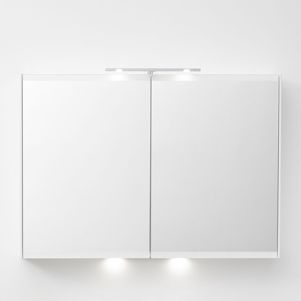 Miller - London 100 Mirror Cabinet - White - 55-2 profile large image view 4