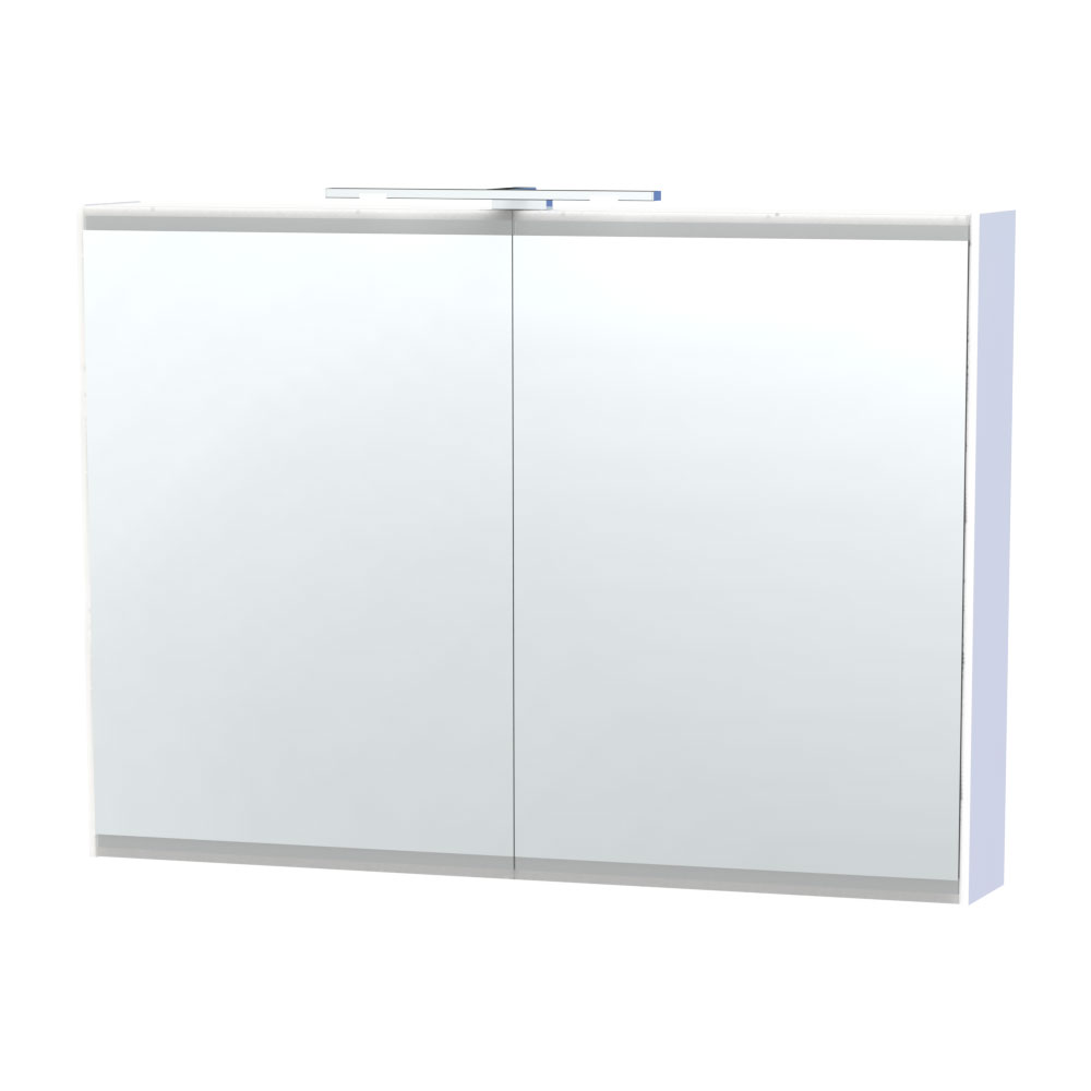 Miller - London 100 Mirror Cabinet - White - 55-2 profile large image view 1