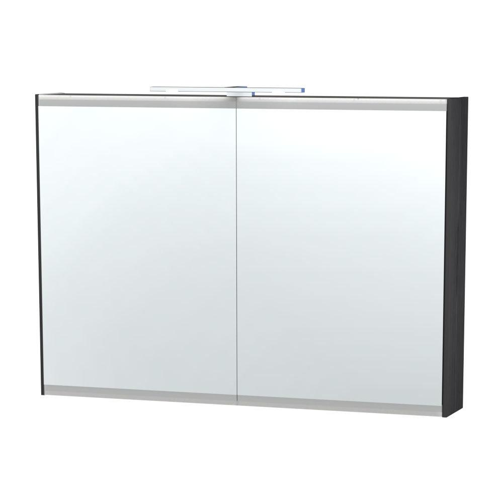 Miller - London 100 Mirror Cabinet - Black - 55-4 Large Image