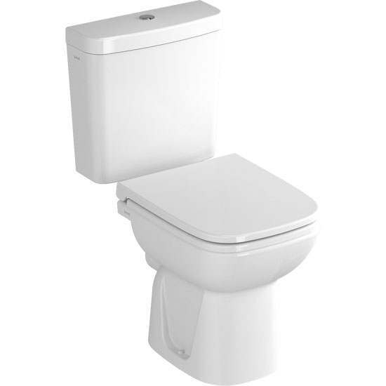 Vitra - S20 Model Close Coupled Toilet - Open Backed - 2 x Seat Options profile large image view 1