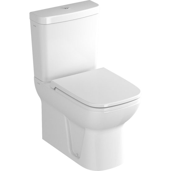 Vitra - S20 Model Close Coupled Toilet - Closed Backed - 2 x Seat Options profile large image view 1