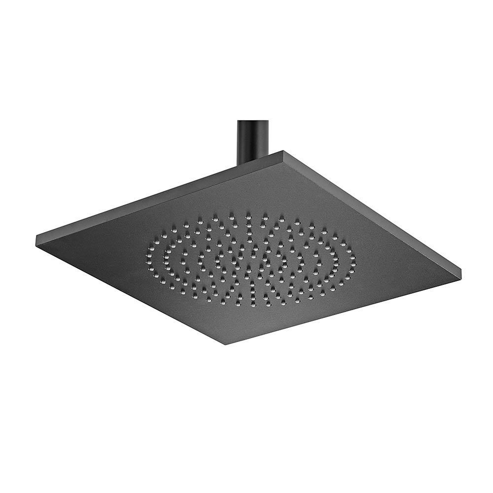 Tre Mercati Black 240mm Aluminium Square Shower Head - 55640