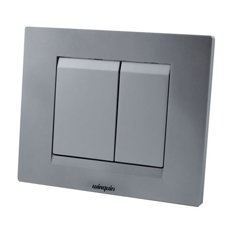 Wirquin Essential Dual Flush Plate - Matt Chrome
