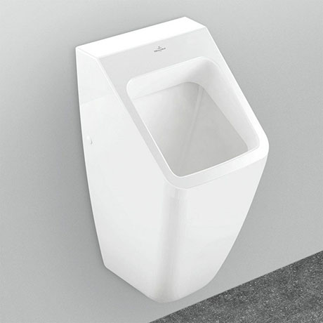 Villeroy and Boch Architectura Square Siphonic Urinal with Concealed Water Inlet - 55870001