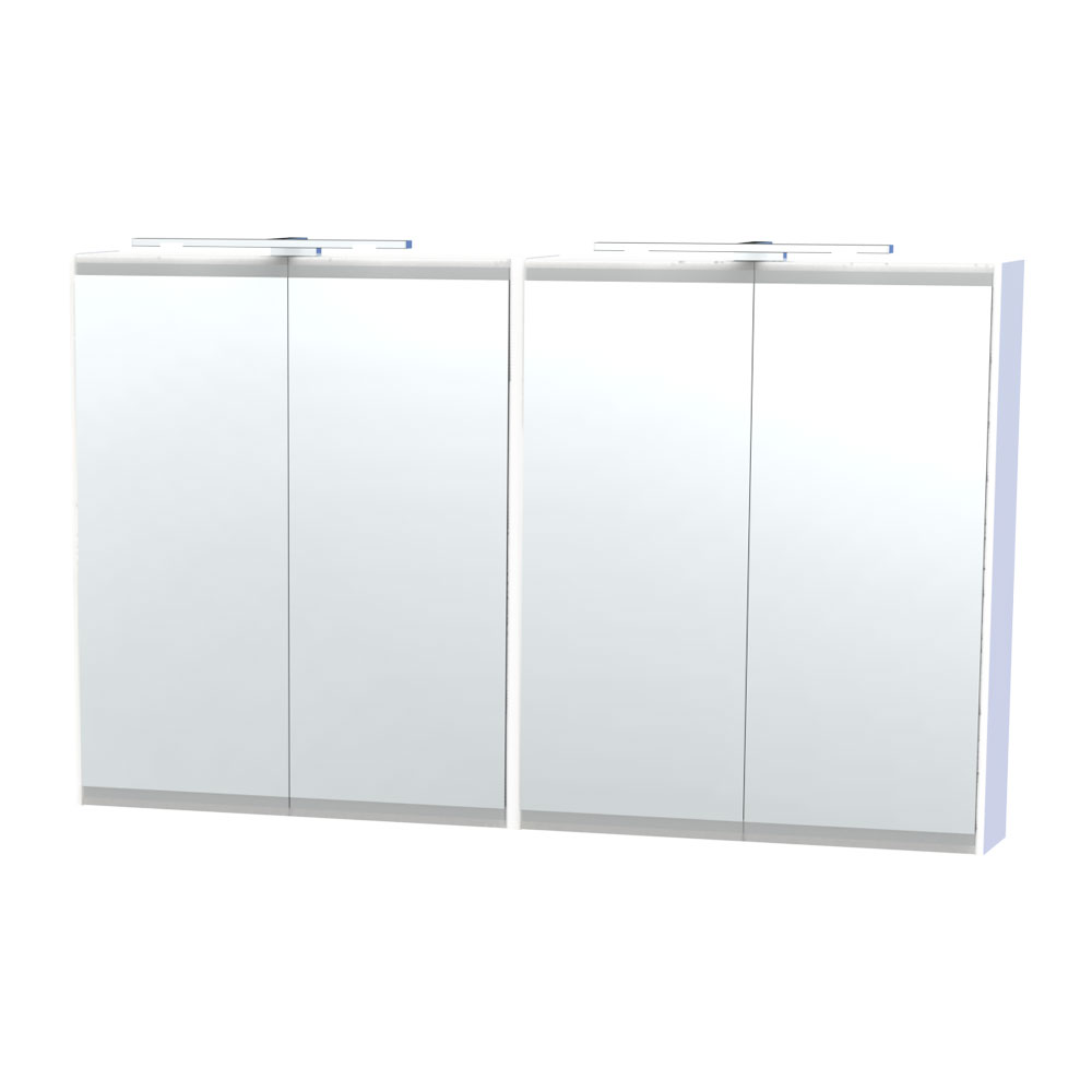 Miller - London 120 Mirror Cabinet - White - 56-2 profile large image view 1